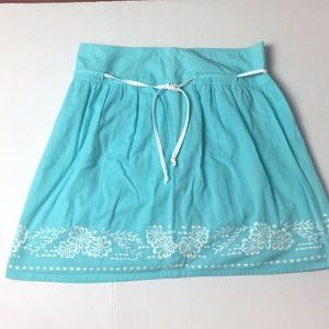 ROXY EMBROIDERED LINED SKIRT